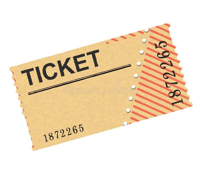 Bilet ilustracja wektor