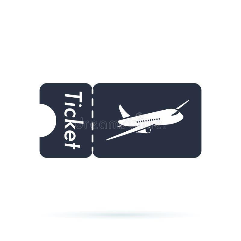 Bilet ikona Płaska ikona Loga element Sieć projekta ikona z samolotowym szablonem Linii lotniczej podróży pojęcia biznesu symbol ilustracji