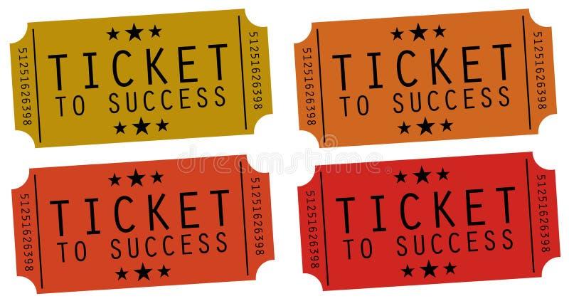 Bilet sukces ilustracji