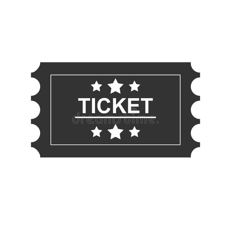 Biletowa czerni linii ikona Na białym tle royalty ilustracja