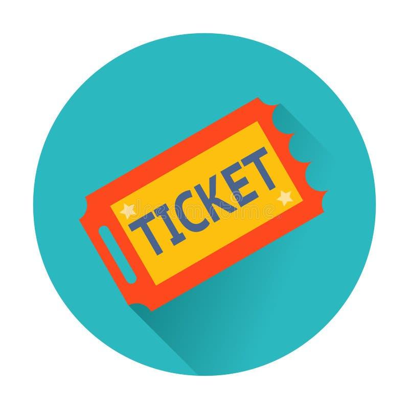 Biletowa ikona ilustracji