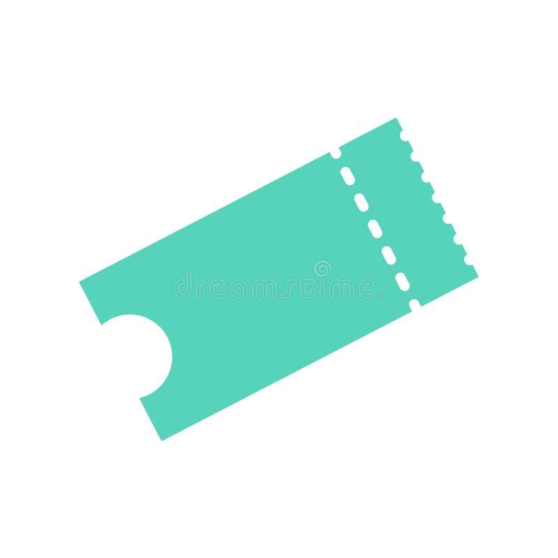 Biletowa ikony ilustracja w płaskim stylu Biletowy karcz odizolowywający na tle Retro kina lub filmu bilety royalty ilustracja