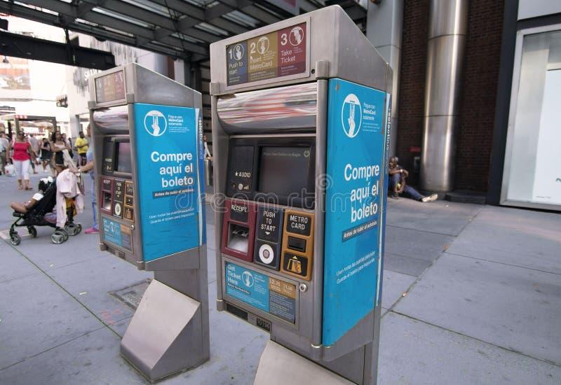 Biletowa maszyna dla pociągów, blisko Penn stacji, NYC zdjęcia royalty free