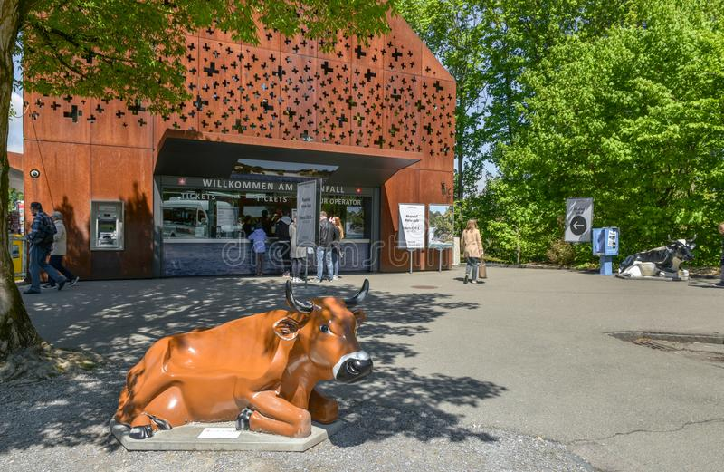 Biletowy biuro przy Rhein siklawą obrazy royalty free