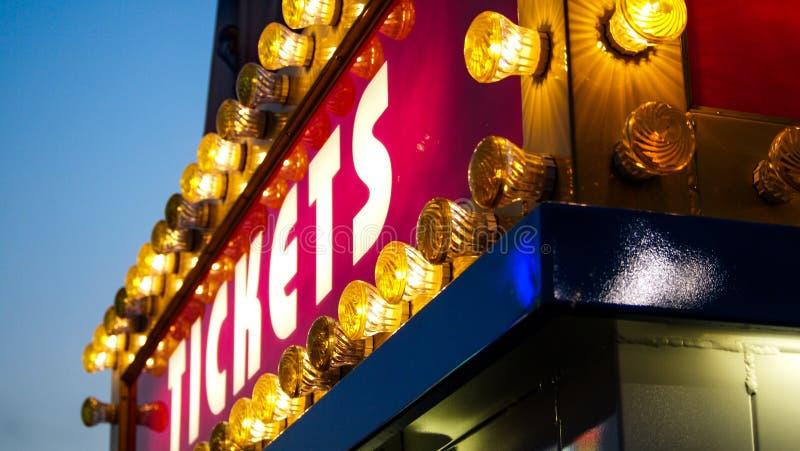 Biletowy budka przy stanu jarmarkiem zdjęcia stock