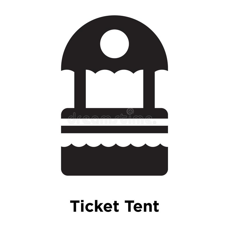 Biletowy Namiotowy ikona wektor odizolowywający na białym tle, loga conce ilustracji