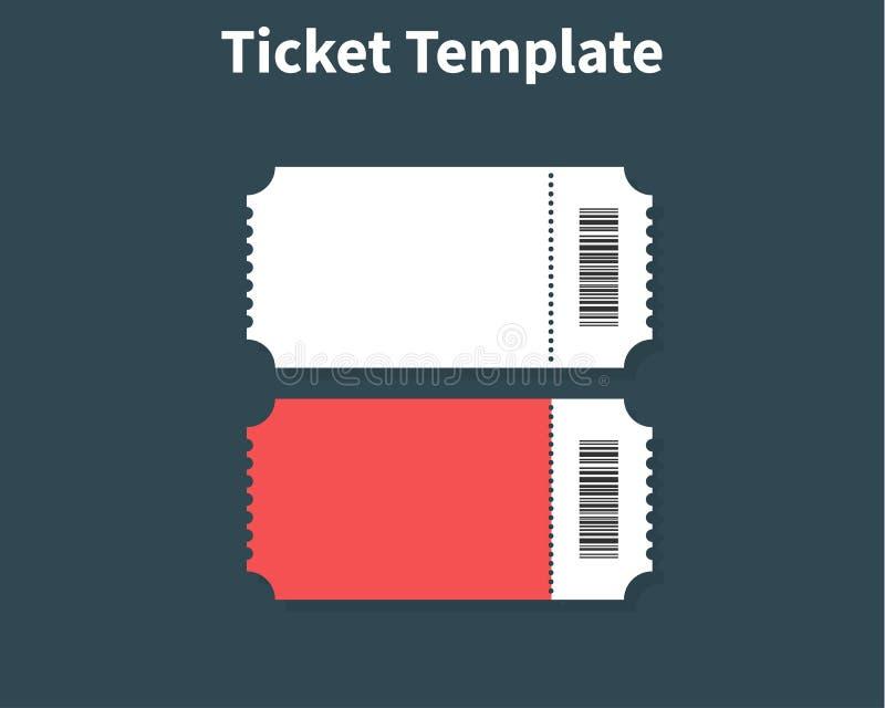 Biletowy szablon Biletowy elementu wytyczna dla projekta Czyści realistycznego przepustki mockup Płaski projekt, wektorowa ilustr ilustracja wektor