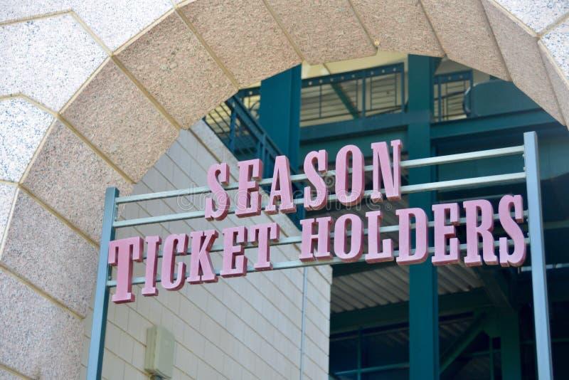 Bilety Sezonowi dla wydarzeń sportowych fotografia royalty free