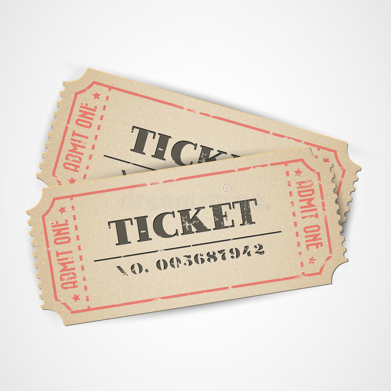 bilety vector rocznika ilustracji