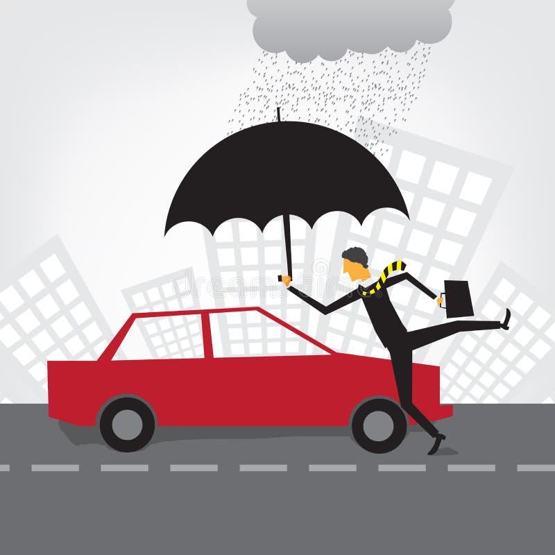 bilförsäkring royaltyfri illustrationer