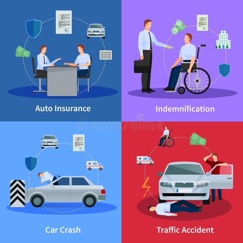 Bilförsäkringbegrepp vektor illustrationer