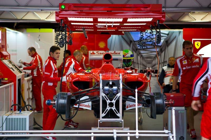 Bilfelipe Ferrari Massa Som Förbereder S-laget Redaktionell Arkivbild
