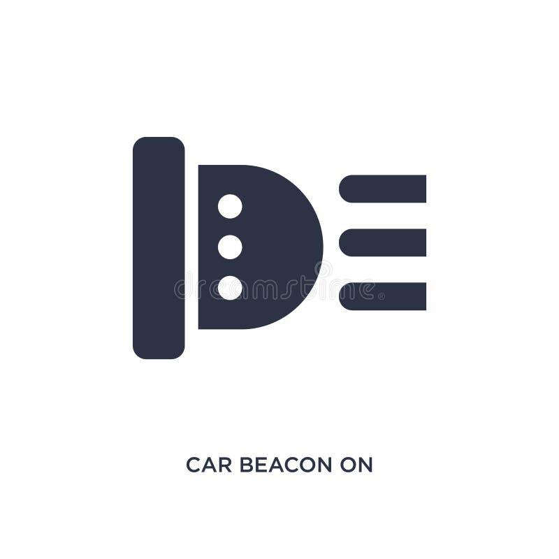 bilfyr på symbol på vit bakgrund Enkel beståndsdelillustration från mechaniconsbegrepp vektor illustrationer