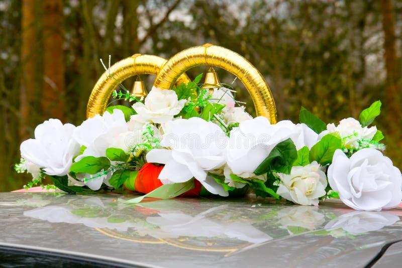 bilgarneringbröllop royaltyfria foton