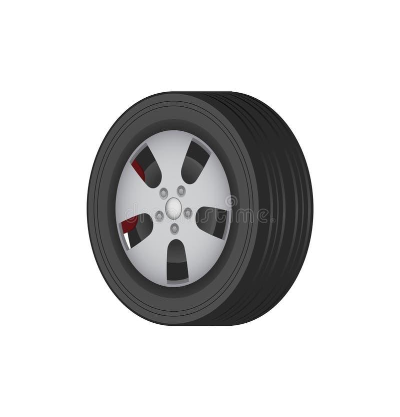 Bilgummihjul av fast bästa kvalitets- gummi för vinter royaltyfri illustrationer