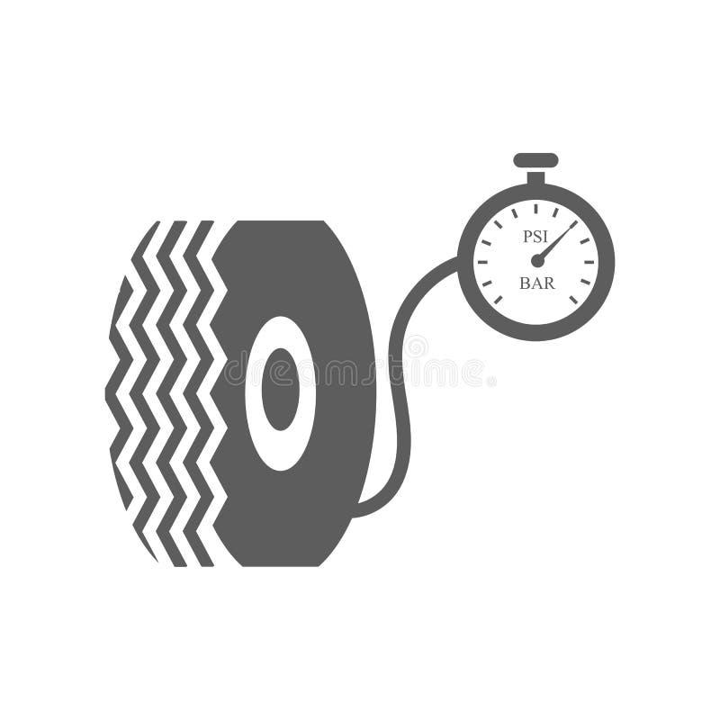 Bilgummihjul och kompressor royaltyfri illustrationer