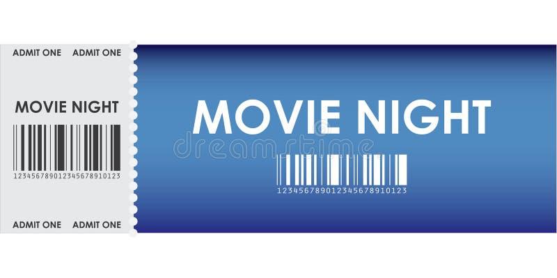 Bilhete azul especial do filme ilustração stock