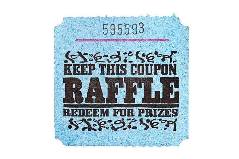Bilhete clássico do raffle foto de stock royalty free
