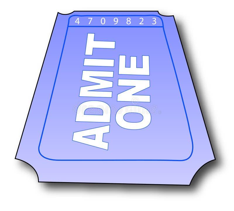 Bilhete da admissão ilustração royalty free