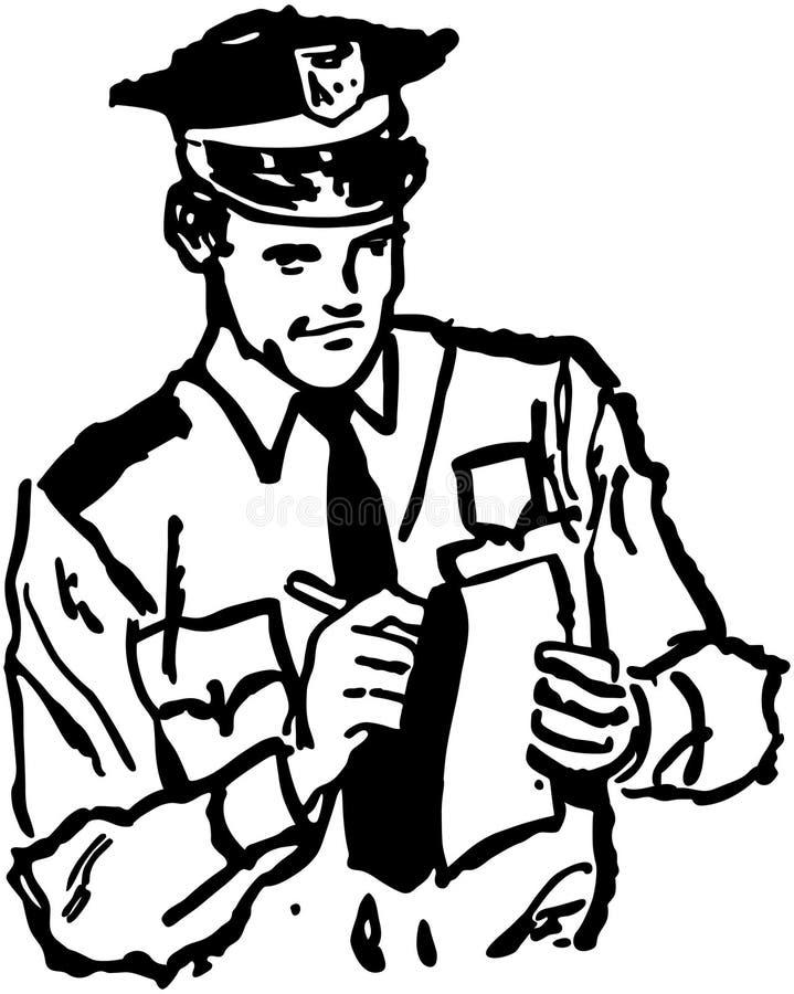 Bilhete da escrita do polícia ilustração royalty free