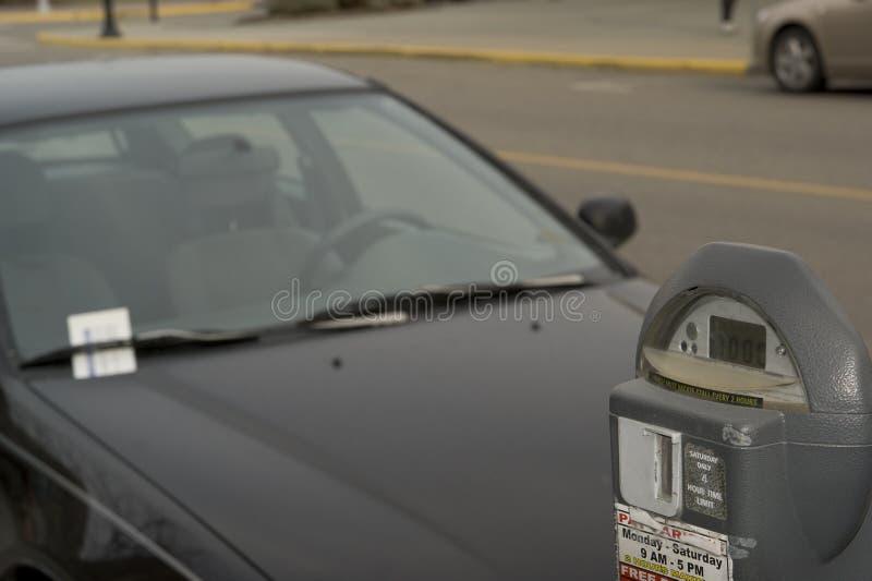 Bilhete de estacionamento fotografia de stock royalty free