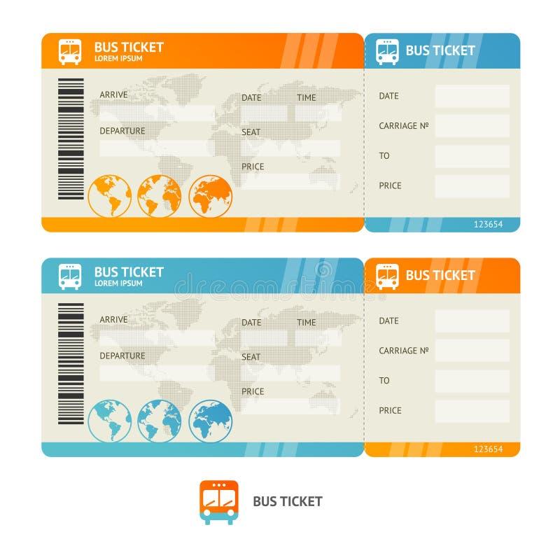 Bilhete de ônibus Vetor ilustração royalty free