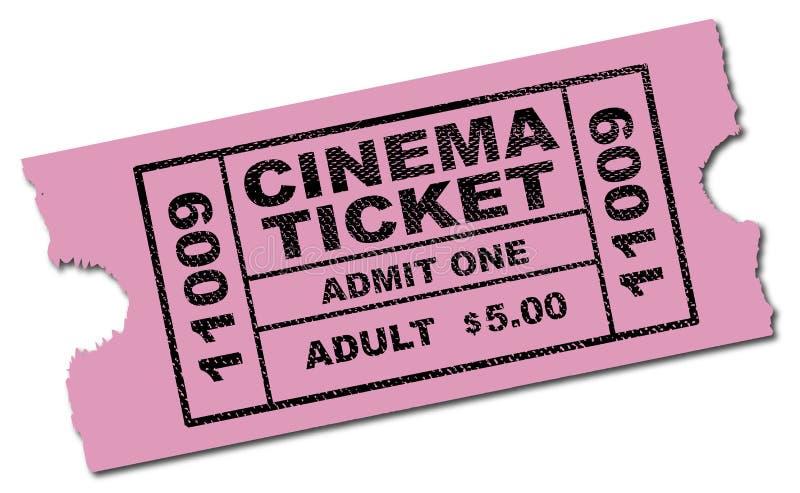 Download Bilhete do cinema ilustração stock. Ilustração de coupon - 107526169