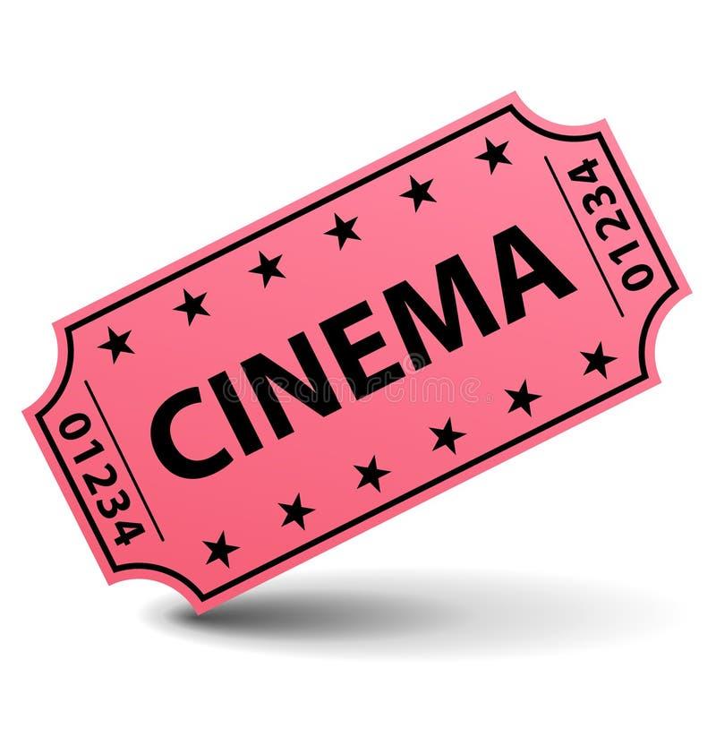 Bilhete do cinema ilustração do vetor