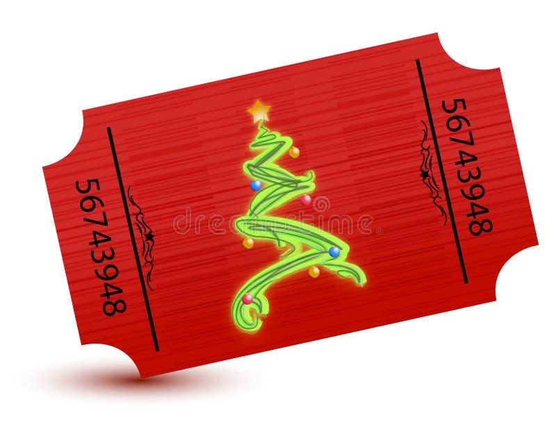 Bilhete especial para a festa de Natal ilustração stock