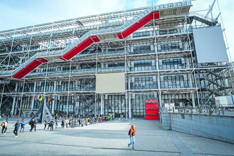 Bilhete-fila ao centro de Georges Pompidou em Paris fotos de stock