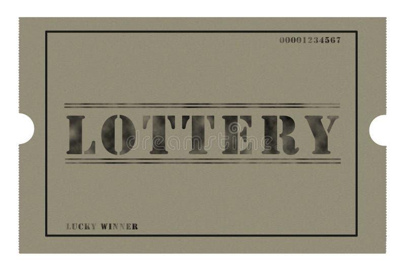 Bilhete grosseiro da lotaria ilustração royalty free