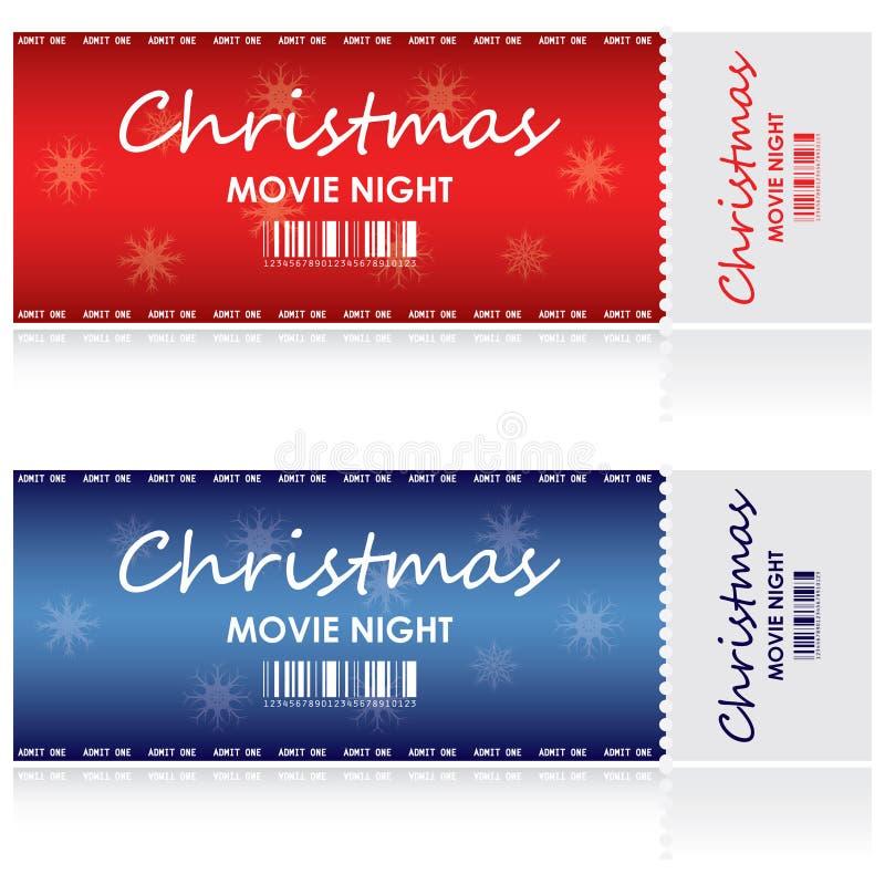 Bilhete para o Natal ilustração stock