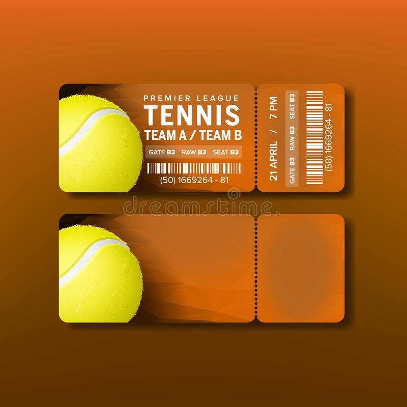 Bilhete para o Premier League da visita do vetor do tênis ilustração royalty free
