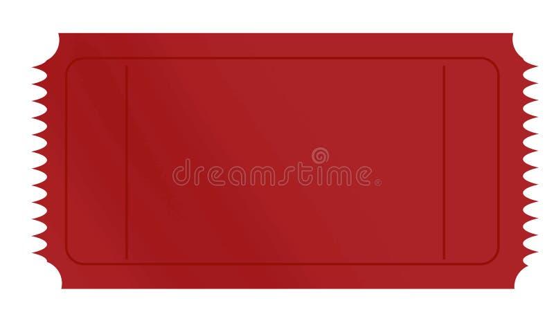 Bilhete vermelho ilustração do vetor