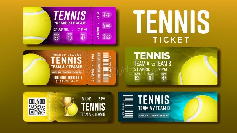 Bilhetes à moda do projeto para o vetor do grupo do tênis da visita ilustração royalty free