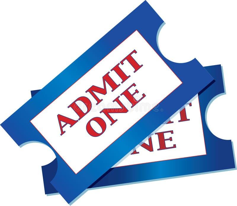Bilhetes da admissão ilustração do vetor