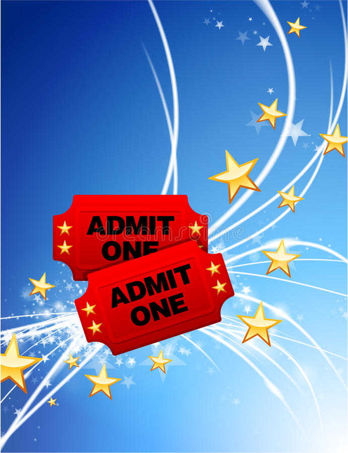 Bilhetes da admissão no fundo claro moderno abstrato ilustração do vetor