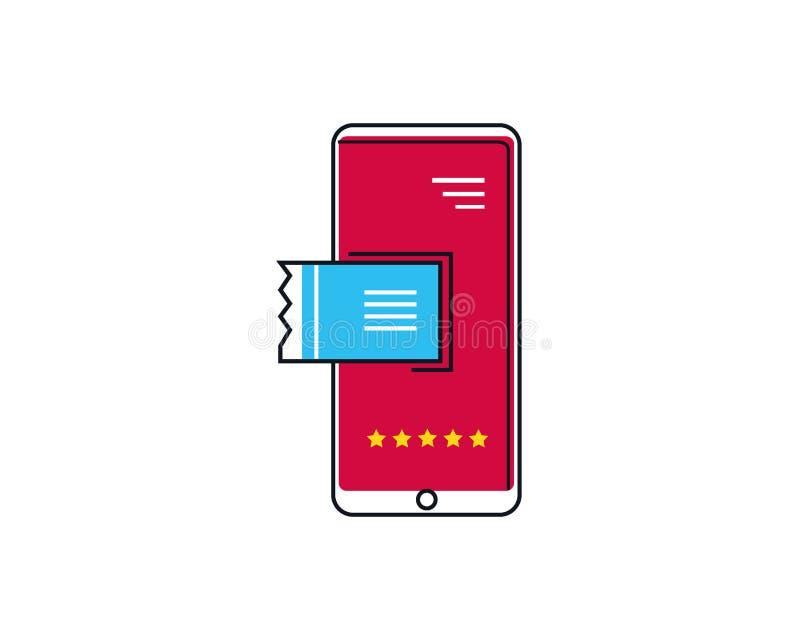 Bilhetes de compra conceito em linha, comércio eletrônico, compra em linha no Internet com um telefone celular fotos de stock