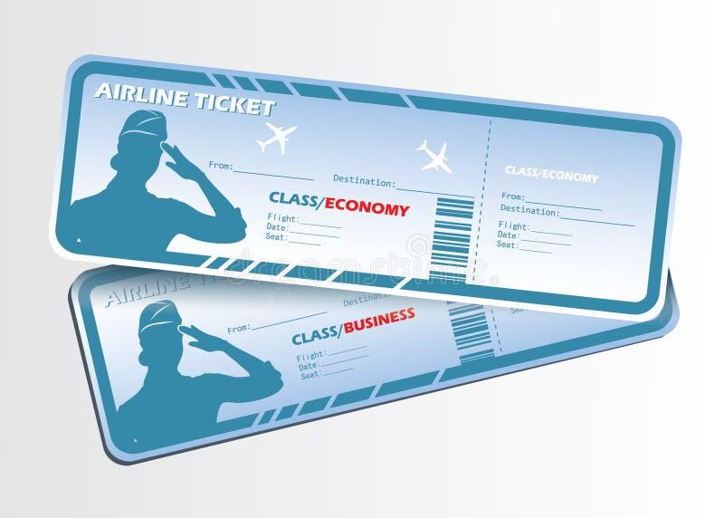 Bilhetes de linhas aéreas ilustração royalty free