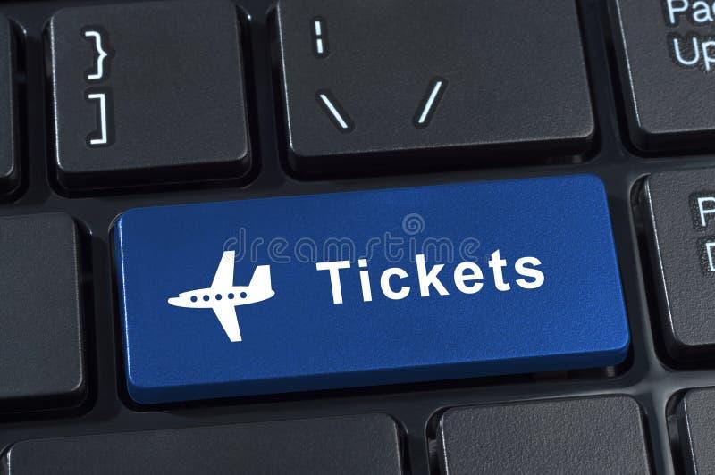 Bilhetes do botão com ícone plano. fotografia de stock
