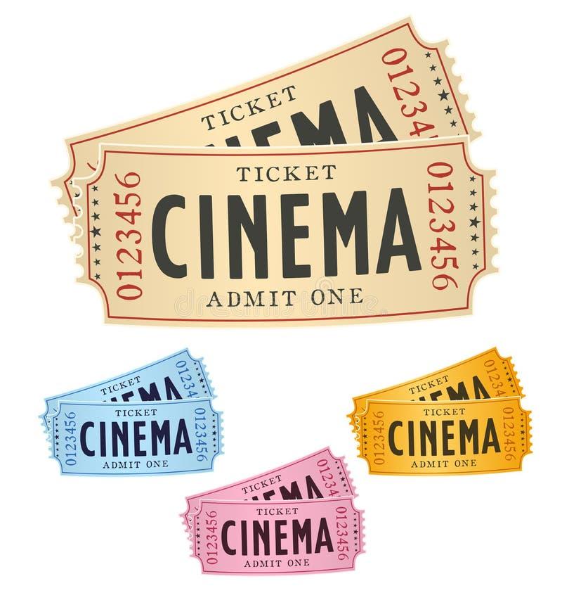 Bilhetes do cinema ilustração stock