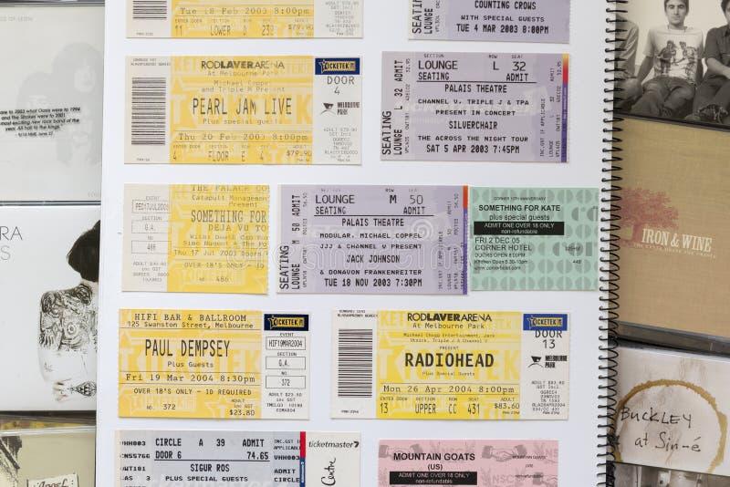 Bilhetes do concerto fotos de stock royalty free