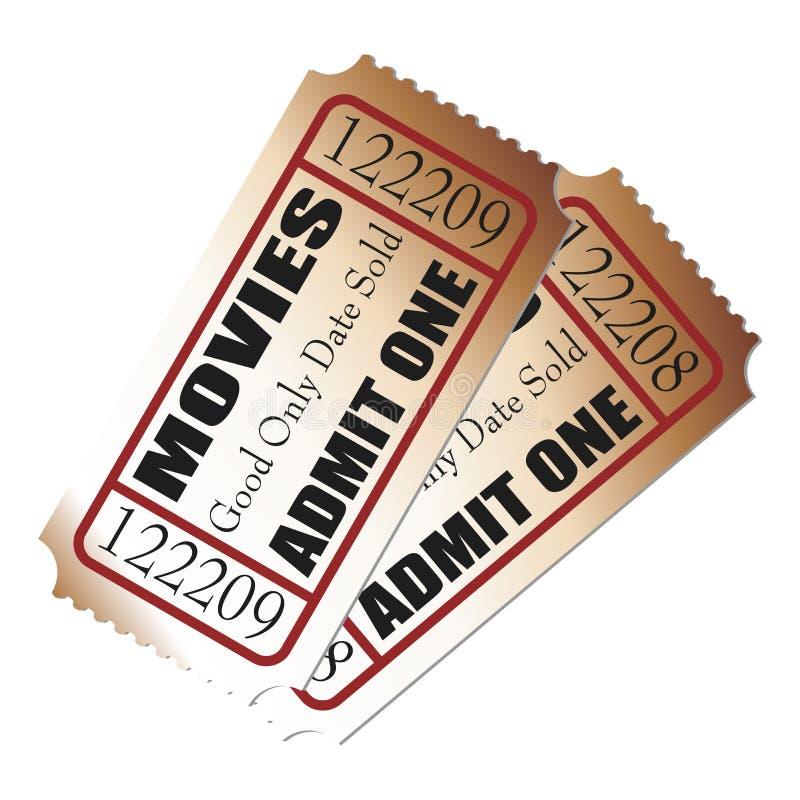 Bilhetes do filme ilustração stock