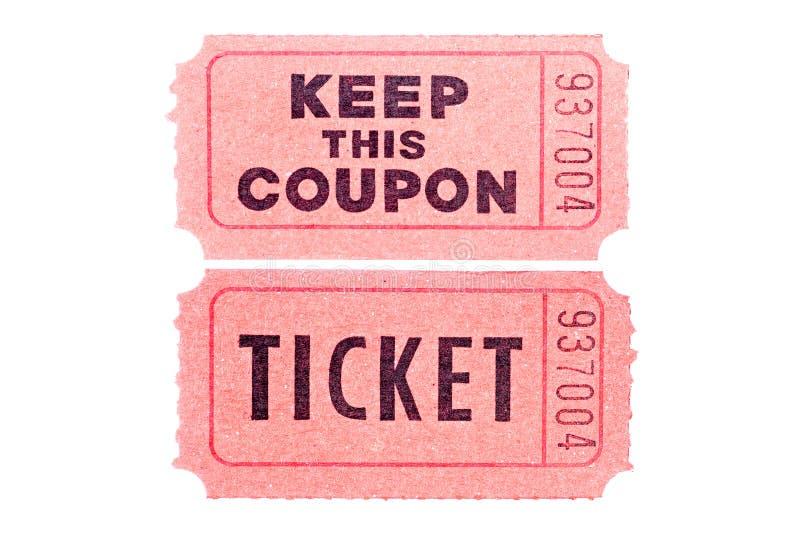Bilhetes do filme isolados no branco imagem de stock royalty free