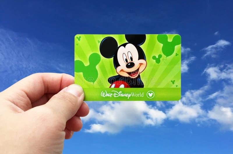Bilhetes dos EUA Orlando Disney World do oficial foto de stock