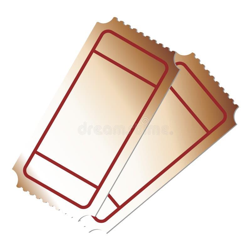 Bilhetes em branco ilustração do vetor