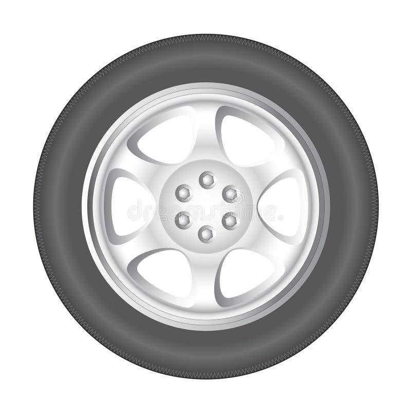 bilhjul vektor illustrationer