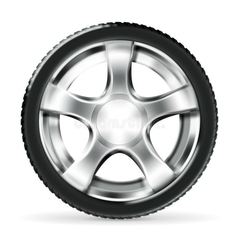 bilhjul royaltyfri illustrationer