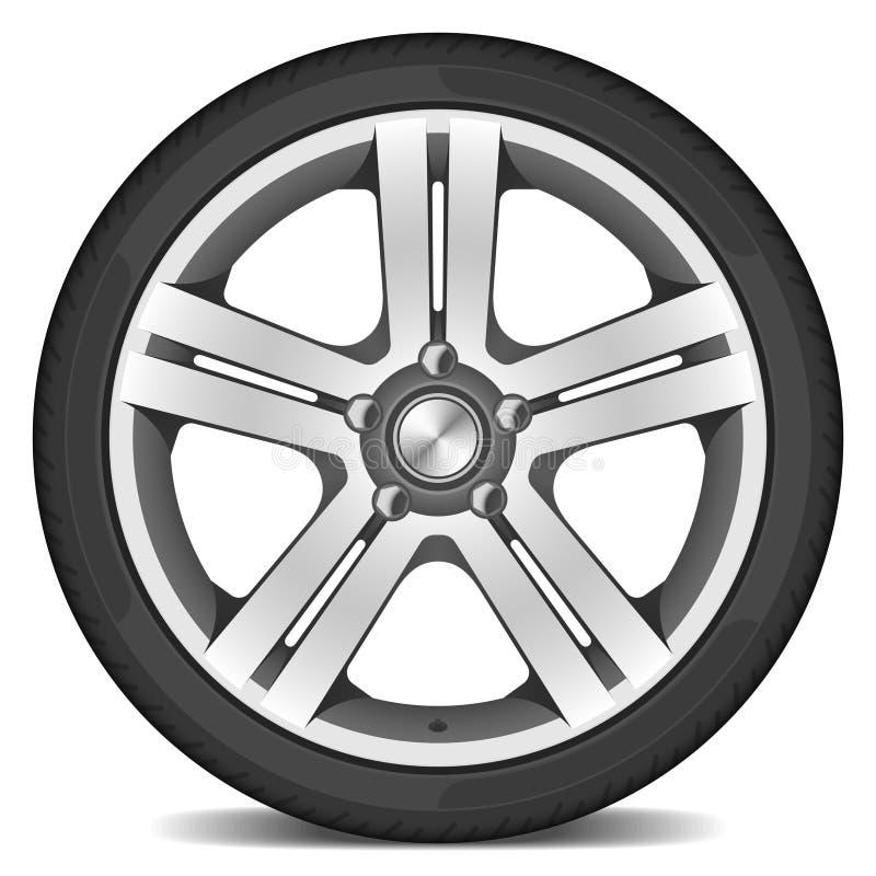 bilhjul stock illustrationer