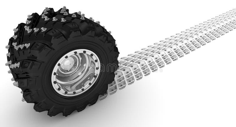 Bilhjulet lämnar en slinga vektor illustrationer